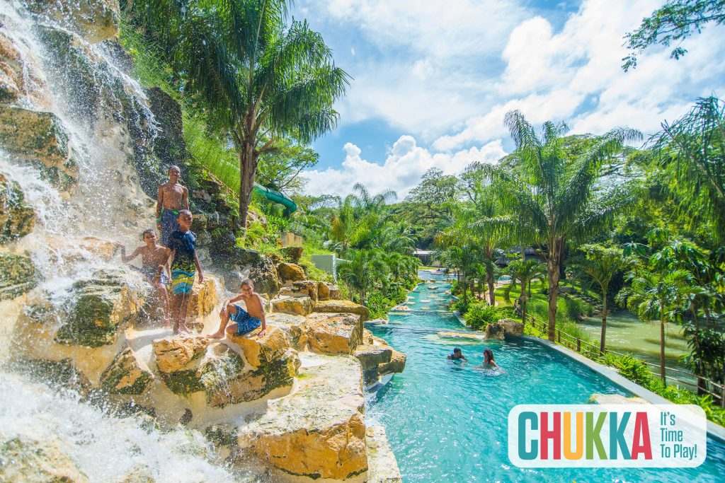 Kids Climbing Waterfall